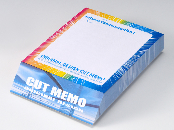 カットメモ 自社特許技術ななめカットメモ帳作成 メモ工房