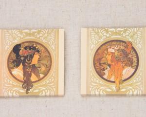 プリエメッセージカード 「ビザンティン風の頭部:ブリュネット」「ビザンティン風の頭部:ブロンド」
