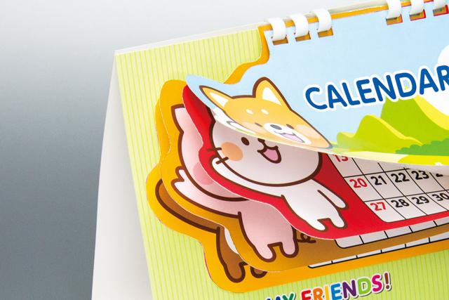 型抜きカレンダー