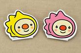 株式会社ノダ様の【快住ラボ】のマスコットキャラクター『かいくん』と『じゅうちゃん』の型抜きメモ(ダイカットメモ)